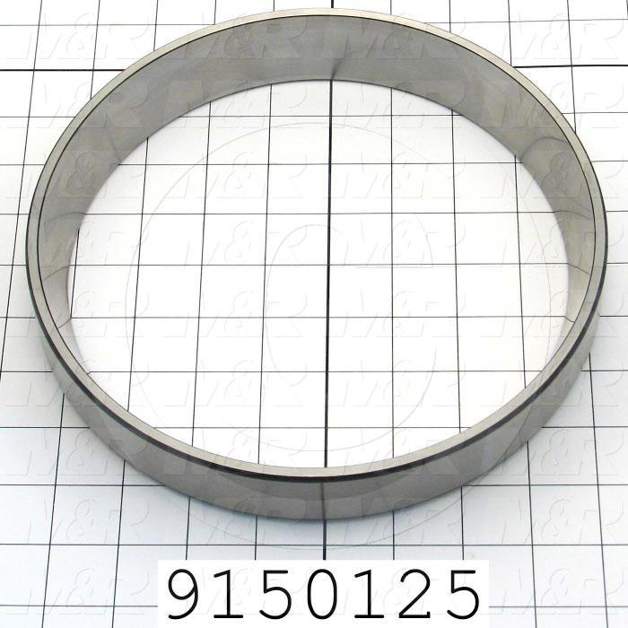 Fabricated Parts, Bearing Cup, 1.31 in. Width, 8.88 in. Diameter