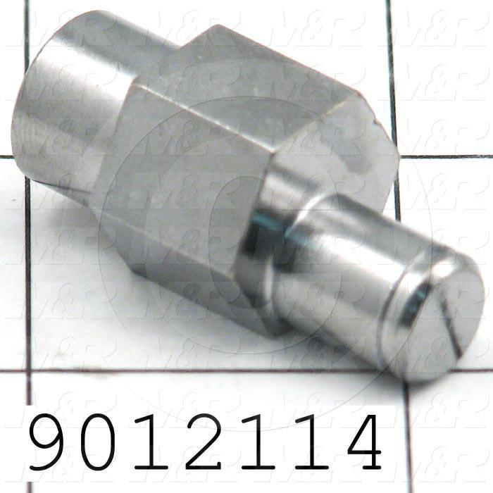"Fabricated Parts, Bearing Eccentric Shaft, 1.34 in. Length, 0.50 in. Diameter, Eccentric 0.35"" Dia."