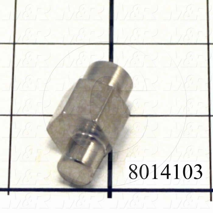Fabricated Parts, Bearing Eccentric Stud, 1.25 in. Length, 0.63 in. Width, 0.63 in. Height