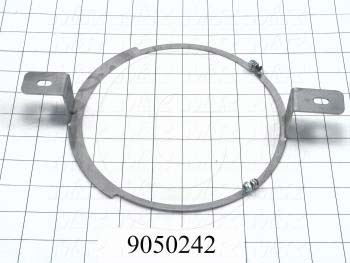 Fabricated Parts, Bearing Holder Ring, 14.15 in. Length, 7.44 in. Width, 1.62 in. Height