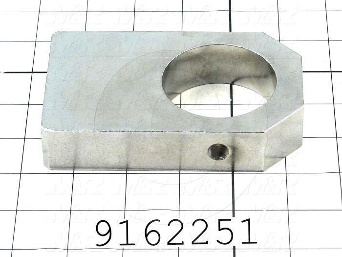 Fabricated Parts, Bearing Housing, 4.91 in. Length, 3.00 in. Width, 1.00 in. Thickness, Right Side