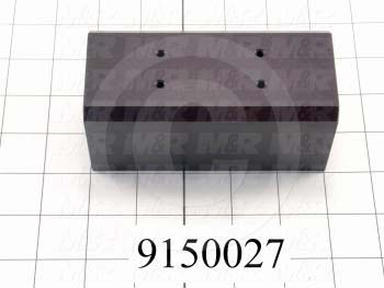 Fabricated Parts, Bearing Housing Block, 5.00 in. Length, 2.25 in. Width, 2.25 in. Height