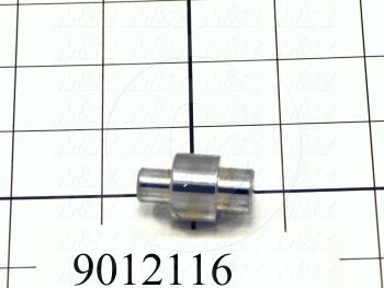"Fabricated Parts, Bearing Mounting Stud, 1.25 in. Length, 0.75 in. Diameter, Step 0.50"" Diameter To 0.38"" Dia."