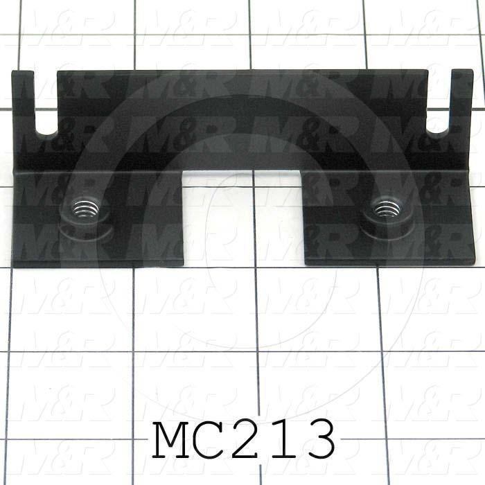 Fabricated Parts, Bearing Plate Mounting Angle, 3.81 in. Length, 1.19 in. Width, 1.12 in. Height, 14 GA Thickness, Black Finish