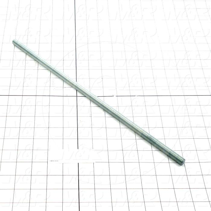 Fabricated Parts, Bed Adjusting Screw, 17.00 in. Length, 1/2-20 Thread Size
