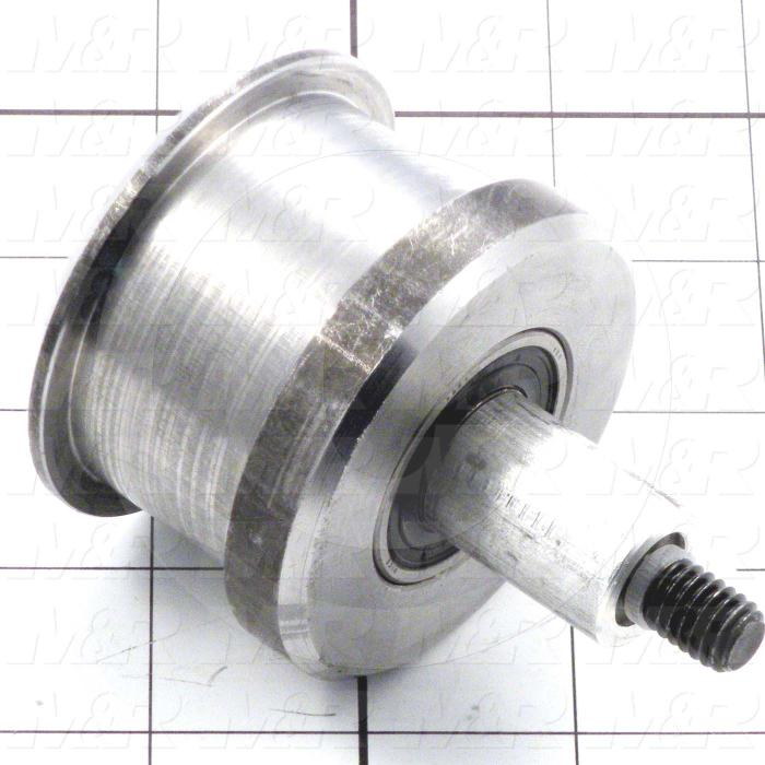 Fabricated Parts, Belt Idler Roller Assembly, 2.50 in. Length, 2.44 in. Diameter
