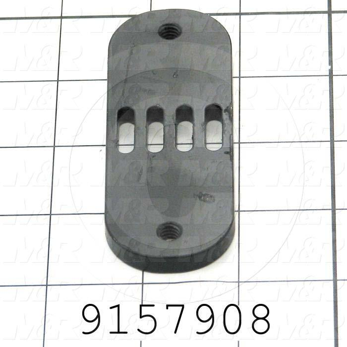 Fabricated Parts, Belt Lock, 3.75 in. Length, 1.38 in. Width, 0.25 in. Thickness