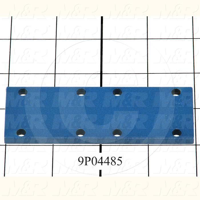 Fabricated Parts, Belt Locking Plate, 4.00 in. Length, 1.43 in. Width, 3/16 in. Thickness