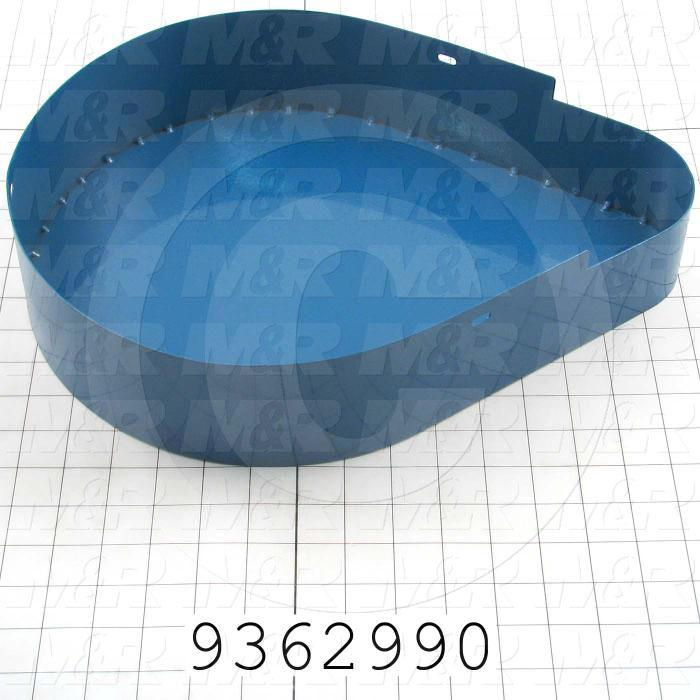 Fabricated Parts, Belt Pulley Cover Weldment, 15.66 in. Length, 12.00 in. Width, 3.25 in. Height