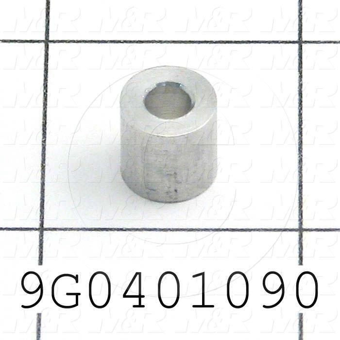Fabricated Parts, Belt Roller Spacer, 0.37 in. Length, 0.37 in. Diameter, As Material Finish