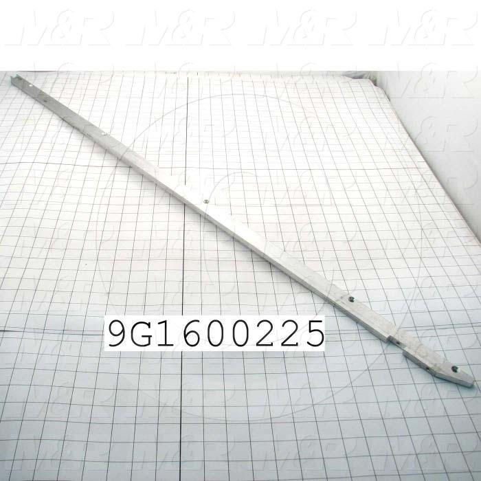 Fabricated Parts, Belt Support Bracket Left, 46.75 in. Length, 1.00 in. Width, 3/8 in. Thickness