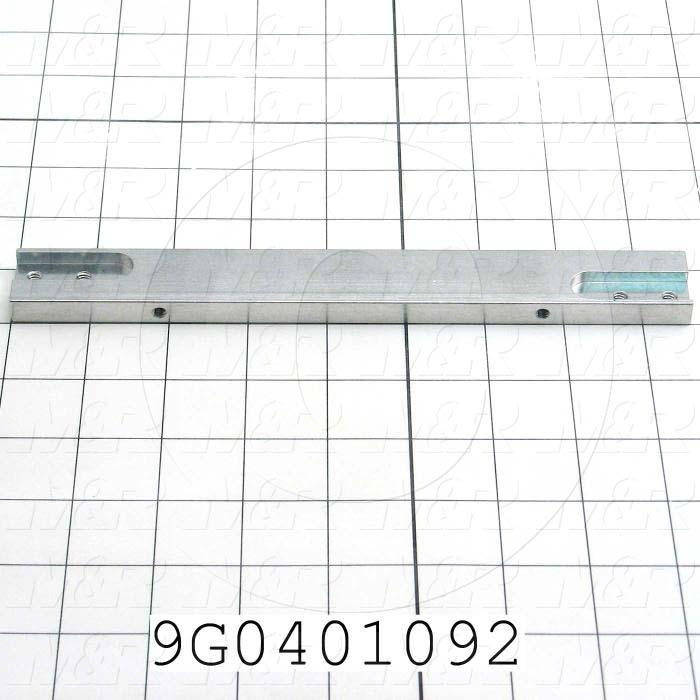 Fabricated Parts, Belt Support Brkt R, 8.86 in. Length, 1.00 in. Width, 0.375 in. Height