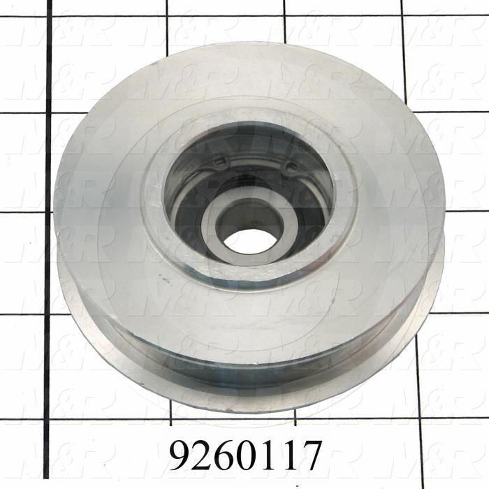 Fabricated Parts, Belt Tension Sprocket, 3.19 in. Diameter, 0.92 in. Thickness