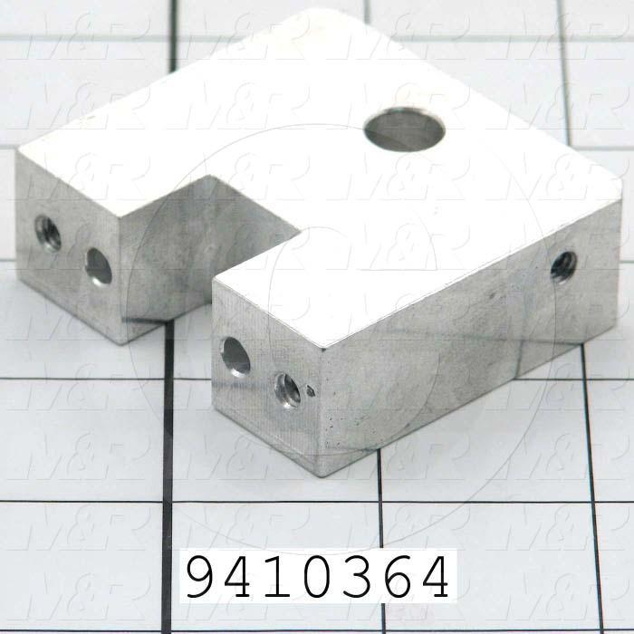 Fabricated Parts, Block, 2.25 in. Length, 0.75 in. Width, 2.06 in. Height