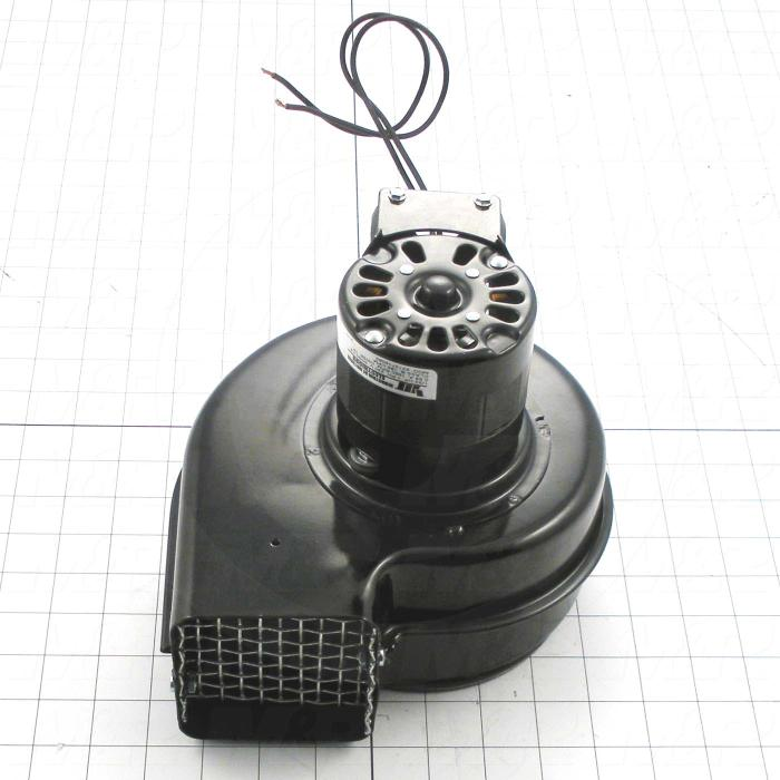 Fabricated Parts, Blower Assembly, 8.50 in. Width, 7.00 in. Height, With Safety Screen, 230V, 160cfm