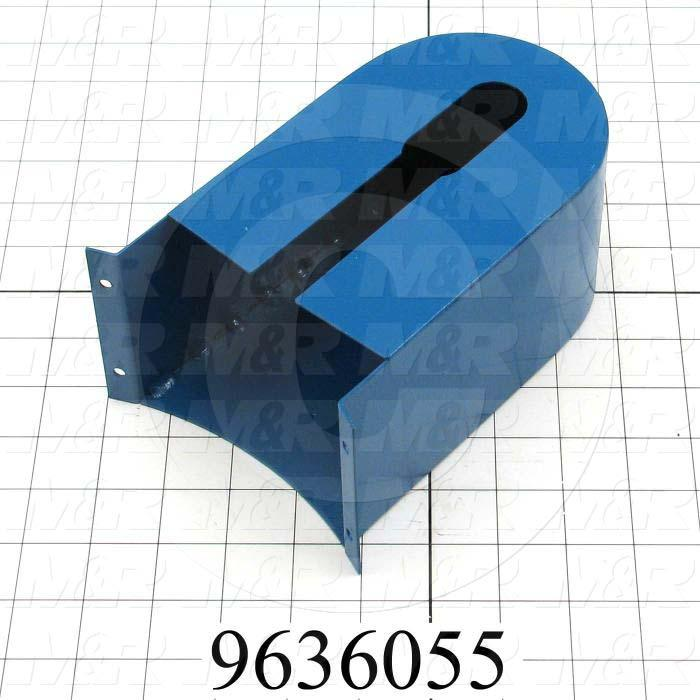 Fabricated Parts, Blower Belt Cover, 7.63 in. Length, 4.25 in. Width, 3.38 in. Height