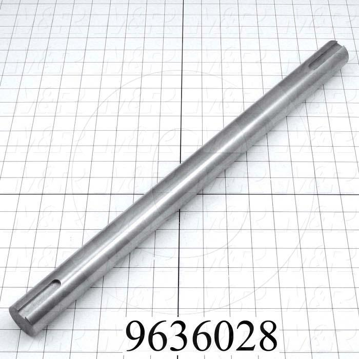 Fabricated Parts, Blower Shaft, 21.00 in. Length, 1.44 in. Diameter