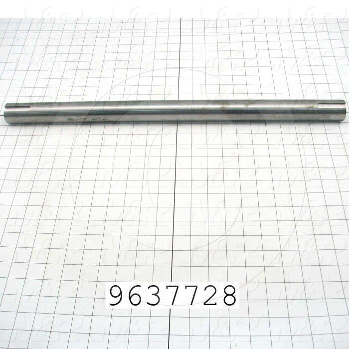Fabricated Parts, Blower Shaft, 23.23 in. Length, 1.44 in. Diameter