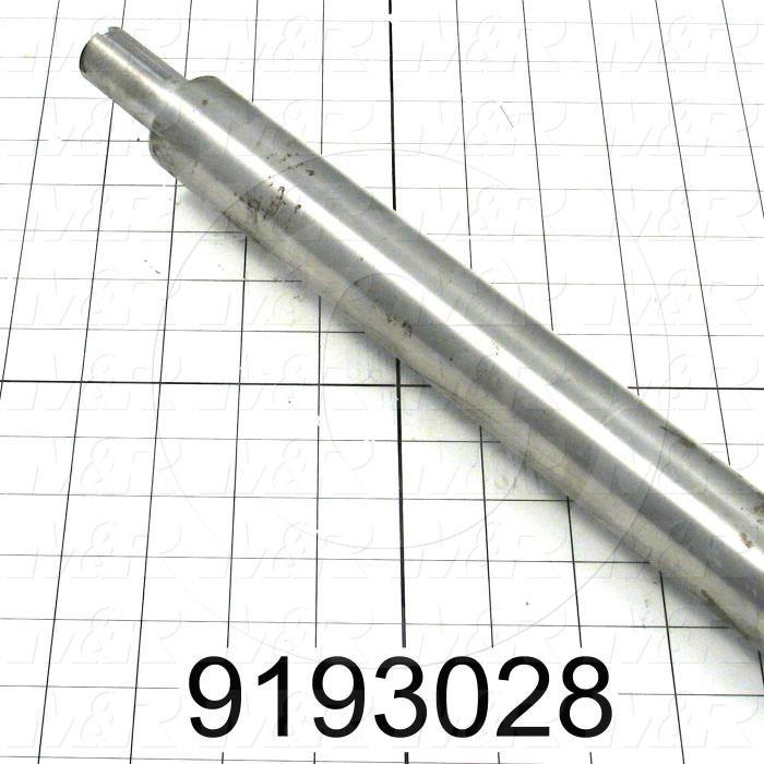 Fabricated Parts, Blower Shaft, 53.25 in. Length, 1.44 in. Diameter