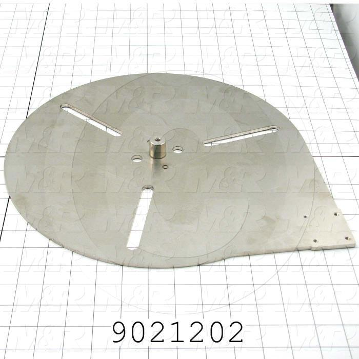 Fabricated Parts, Bottom Plate, 14.00 in. Length