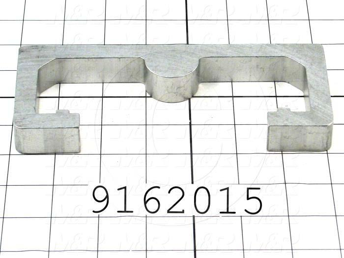 Fabricated Parts, Bracket, 7.06 in. Length, 3.00 in. Width, 0.75 in. Thickness