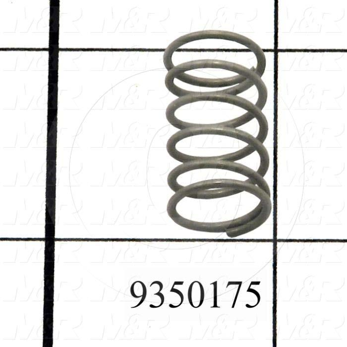 Fabricated Parts, Bracket Locking Spring, 0.81 in. Length, 0.47 in. Diameter