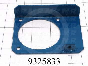 Fabricated Parts, Brake Plate Weldment, 5.38 in. Length, 7.25 in. Width, 1.88 in. Height