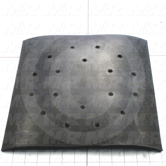 Fabricated Parts, Bucket Floor Mat, 13.19 in. Length, 13.19 in. Width, 0.25 in. Thickness