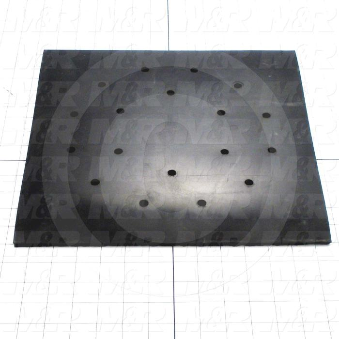 Fabricated Parts, Bucket Floor Mat, 13.25 in. Length, 13.25 in. Width, 0.25 in. Thickness