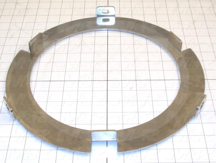 Fabricated Parts, Bucket Pull Down Cover, 1.06 in. Length, 13.88 in. Diameter, 10 GA Thickness