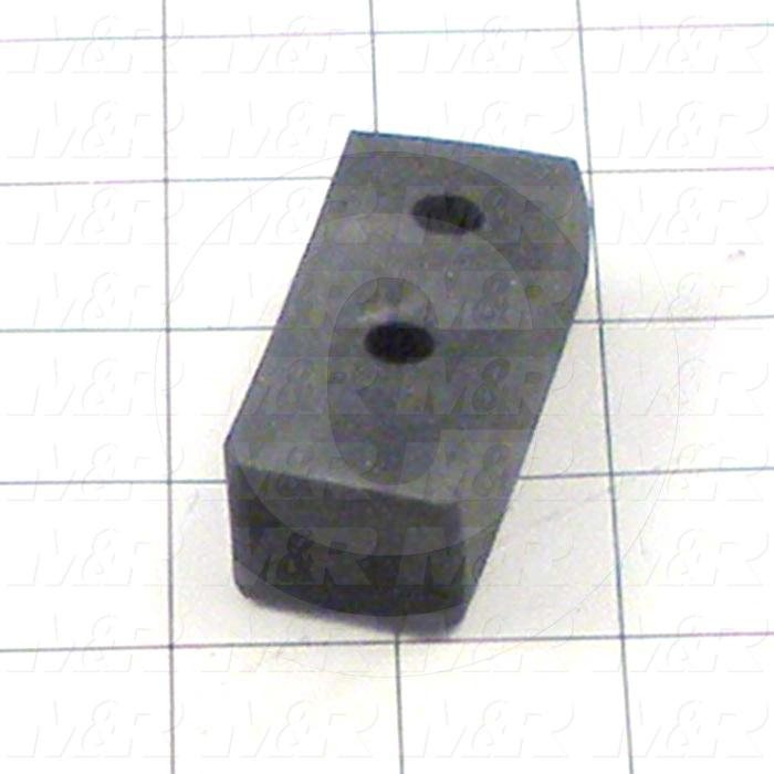 Fabricated Parts, Bumper Rubber, 2.38 in. Length, 0.75 in. Thickness