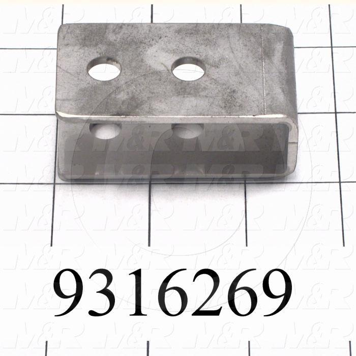 Fabricated Parts, Bumper Stop Bracket, 5.61 in. Length, 1.38 in. Width, 0.97 in. Height
