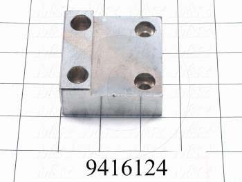 "Fabricated Parts, Cam Follower Mtg. Block 2.5""Re, 2.50 in. Length, 2.50 in. Width, 1.13 in. Thickness, Chrome-Plated Finish"
