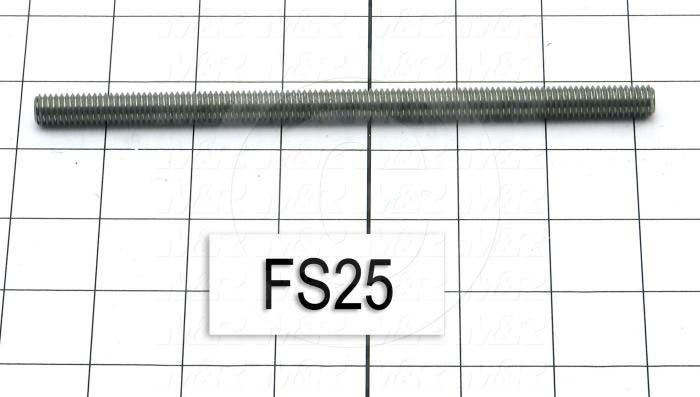 "Fabricated Parts, Capacitor Mounting Screw 7"", 7.00 in. Length, 3/8-16 Thread Size"
