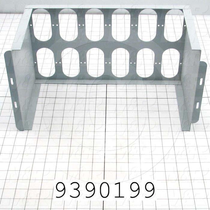 Fabricated Parts, Capacitors Rack, 16.40 in. Length, 8.50 in. Width, 8.00 in. Height, 18 GA Thickness