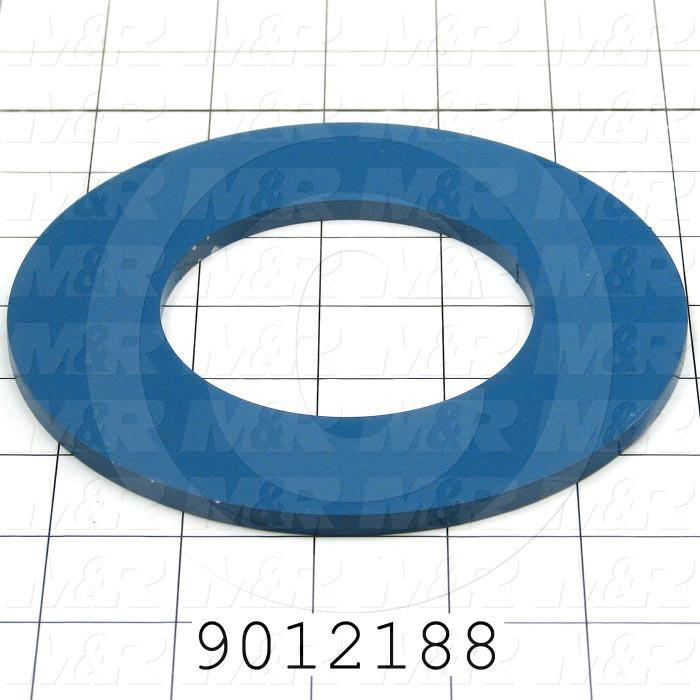 Fabricated Parts, Carousel Distance Bottom Ring, 5.50 in. Diameter, 0.19 in. Thickness, Painted Blue Finish