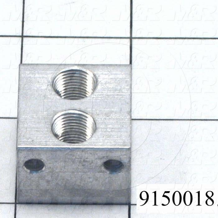 Fabricated Parts, Carriage Air Connector, 1.00 in. Length, 1.00 in. Width, 0.75 in. Height