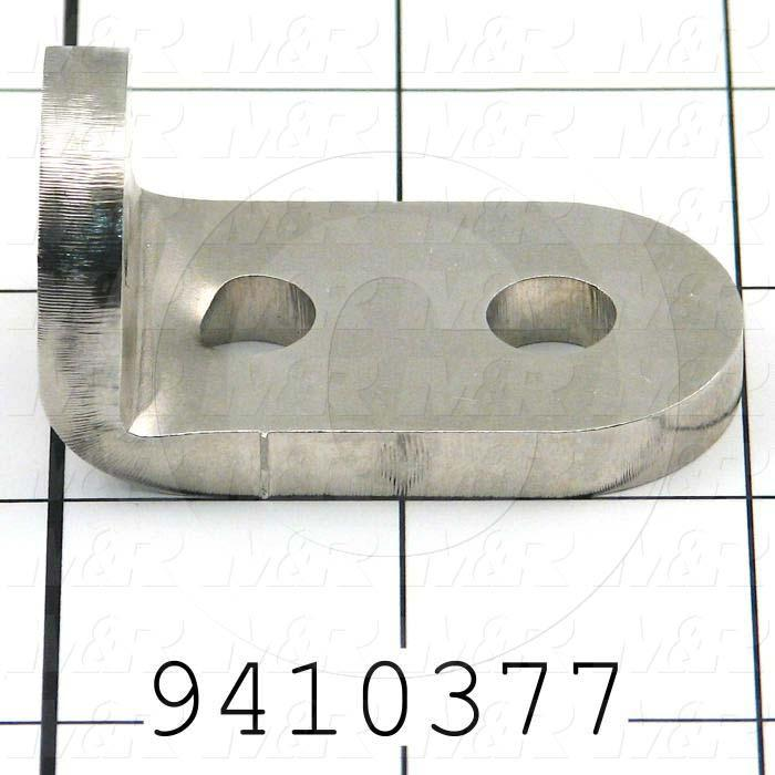Fabricated Parts, Carriage Bumper Bracket, 2.06 in. Length, 1.13 in. Width, 1.06 in. Height