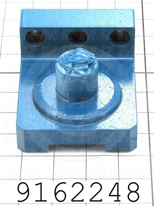 Fabricated Parts, Carriage Clevis Base Weldment, 4.50 in. Length, 3.75 in. Width, 2.28 in. Height