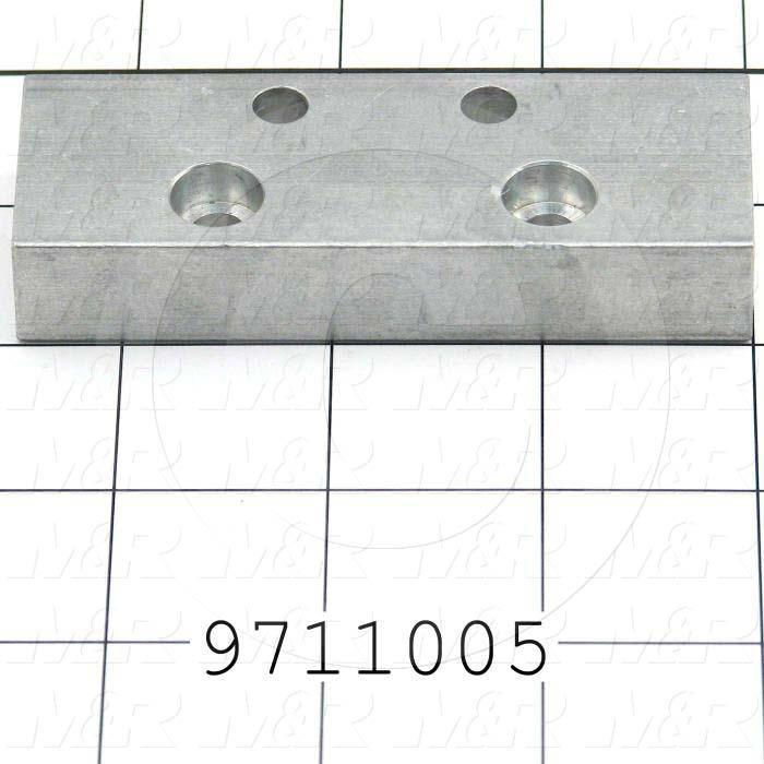 "Fabricated Parts, Carriage Half Plate 3.5"", 3.50 in. Length, 1.25 in. Width, 0.63 in. Thickness"