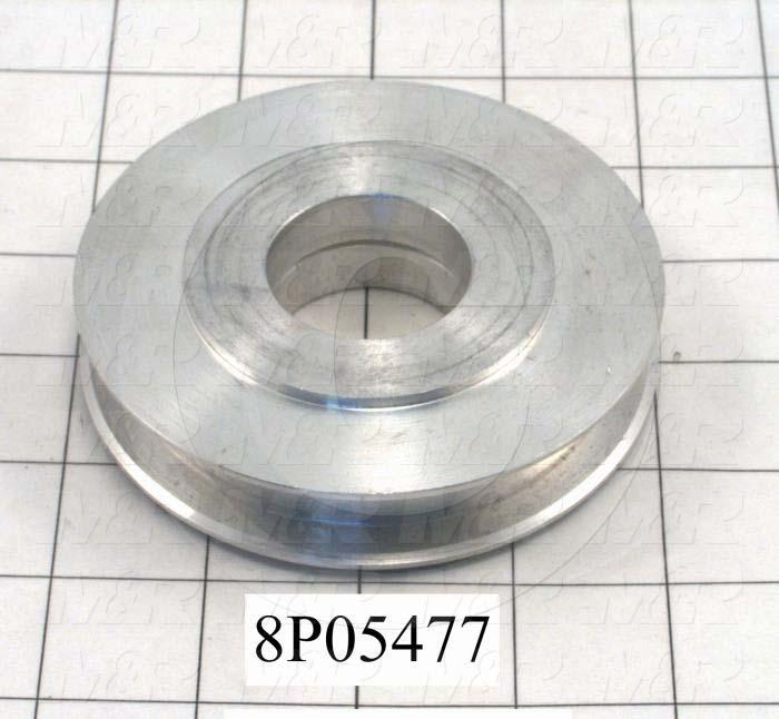 Fabricated Parts, Carriage Idler Roller, 0.92 in. Width, 4.00 in. Diameter
