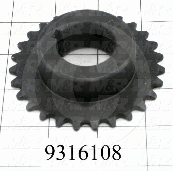 Fabricated Parts, Carriage Idler Sprockets, 0.88 in. Length, 3.23 in. Diameter