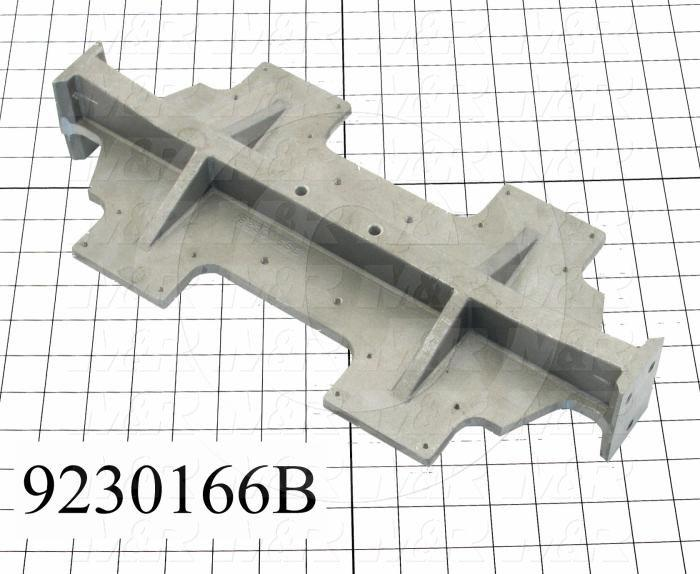 Fabricated Parts, Carriage Mounting Bracket, 16.25 in. Length, 7.75 in. Width, 3.00 in. Height