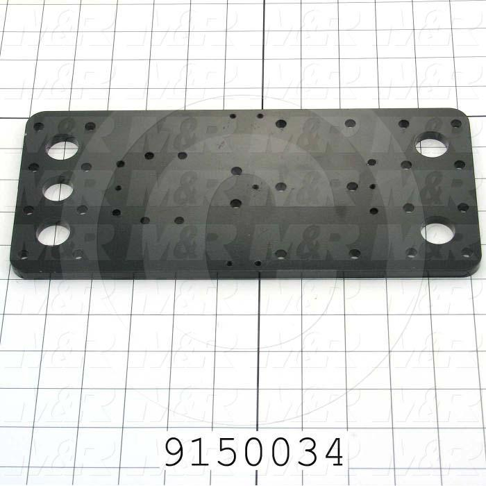 Fabricated Parts, Carriage Plate, 11.25 in. Length, 5.00 in. Width, 0.31 in. Height
