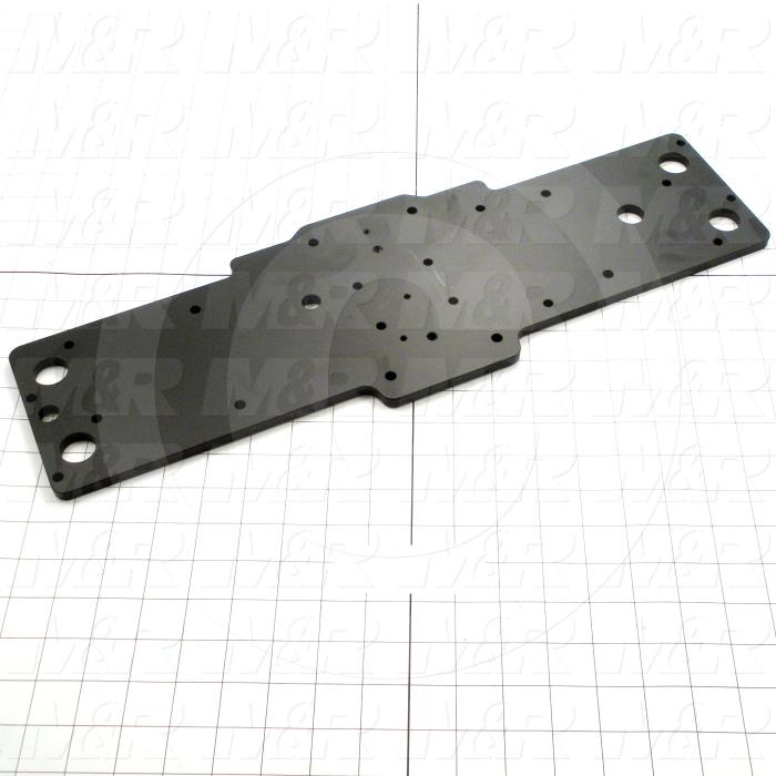 Fabricated Parts, Carriage Plate, 20.25 in. Length, 6.74 in. Width, 0.31 in. Diameter, 0.31 in. Thickness