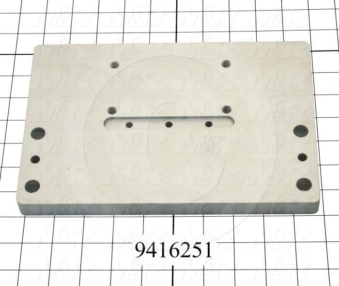"Fabricated Parts, Carriage Plate 8""Lg, 8.00 in. Length, 8.00 in. Width, 0.75 in. Thickness"