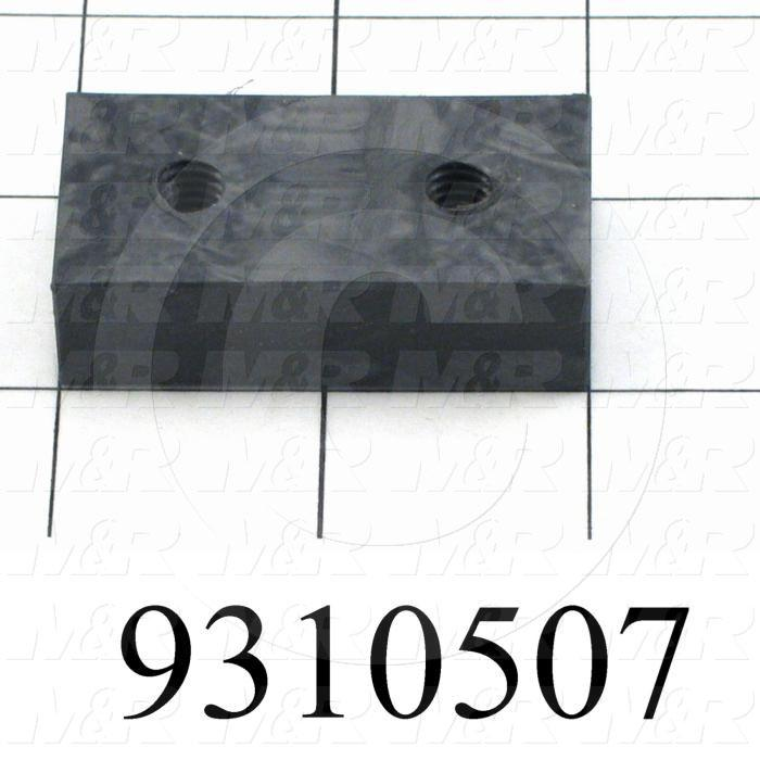 Fabricated Parts, Carriage Sliding Pad, 2.00 in. Length, 1.00 in. Width, 0.56 in. Thickness
