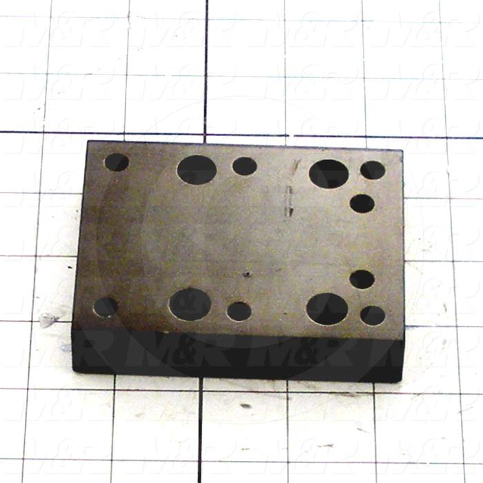 Fabricated Parts, Carriage Spacer, 3.81 in. Length, 3.00 in. Width, 0.75 in. Thickness