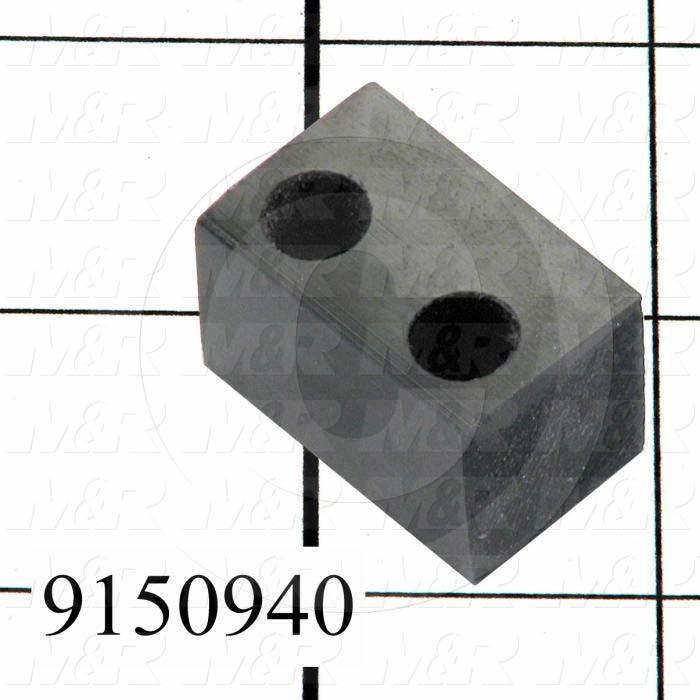 Fabricated Parts, Carriage Stop Rear, 1.13 in. Length, 0.75 in. Width, 0.75 in. Height