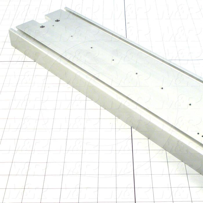 Fabricated Parts, Carriage Support Extrusion, 43.50 in. Length, 1.50 in. Width, 5.88 in. Height
